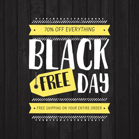 Black Friday Discounts Ad Instagram Design Template