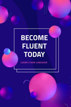 Ontwerpsjabloon van Pinterest van Language Course Offer