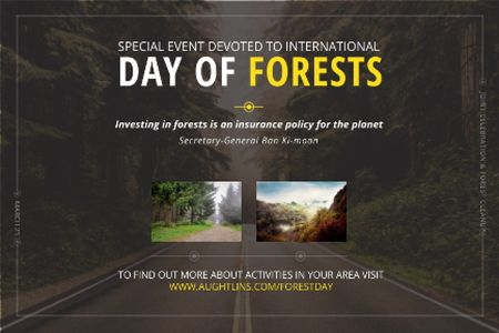 Special Event devoted to International Day of Forests Gift Certificate – шаблон для дизайна