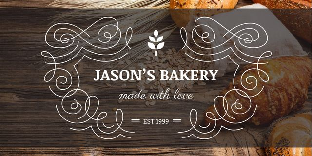 Template di design Bakery Ad with Fresh Buns Twitter