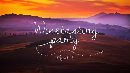 Party announcement on Scenic Sunset Landscape FB event cover – шаблон для дизайна