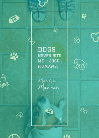 Plantilla de diseño de Dogs Quote with cute Puppy Invitation
