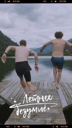 Summer mood with people by the Lake TikTok Video – шаблон для дизайна