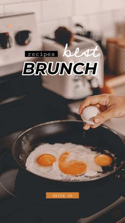 Template di design Fried Eggs for Late Brunch Instagram Story
