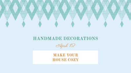 Plantilla de diseño de Handmade decorations sale on Pattern in Blue FB event cover