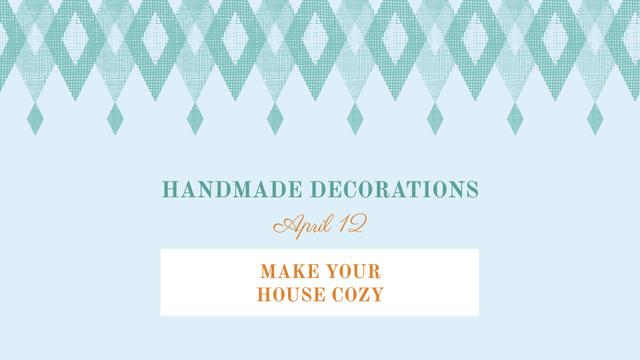 Plantilla de diseño de Handmade decorations sale on Pattern in Blue FB event cover