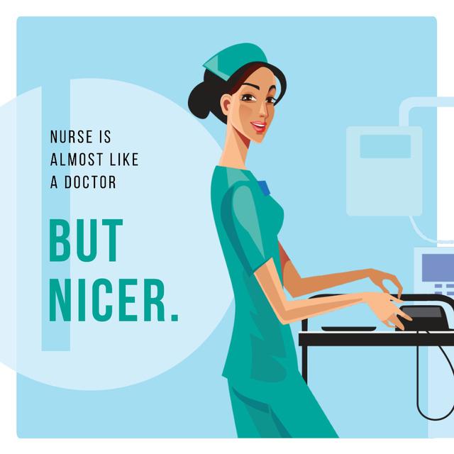 Confident nurse in clinic Instagramデザインテンプレート