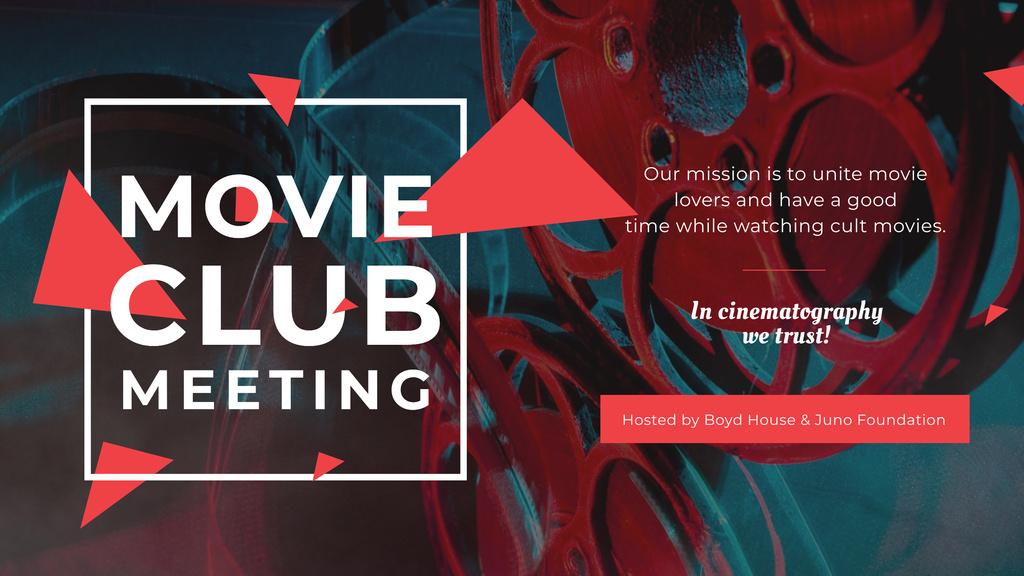 Modèle de visuel Movie Club Meeting with Vintage Projector - Youtube
