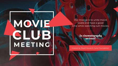Movie Club Meeting with Vintage Projector Youtube Tasarım Şablonu
