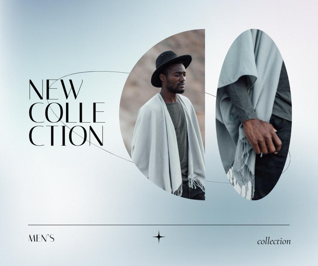 Fashion Collection Ad with Stylish Man Facebook Modelo de Design