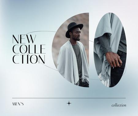 Modèle de visuel Fashion Collection Ad with Stylish Man - Facebook