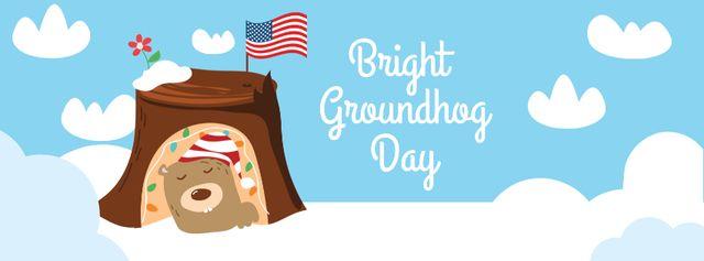 Groundhog Day Celebration Announcement Facebook cover – шаблон для дизайна