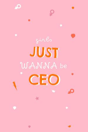 Girl Power Inspirational Phrase Pinterest Design Template