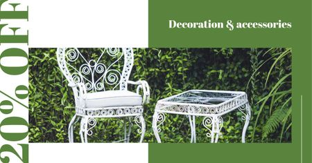 Modèle de visuel Elegant White garden Furniture - Facebook AD