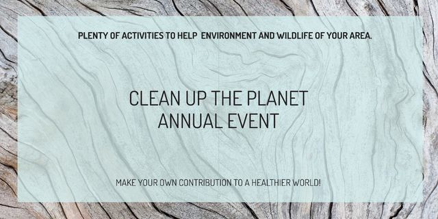 Clean up the Planet Annual event Image Modelo de Design