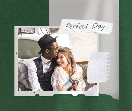 Happy Romantic Couple on Wedding Day Facebook – шаблон для дизайну