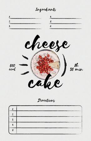 Cheese Cake Cooking Steps Recipe Card Modelo de Design