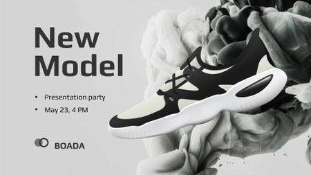 Plantilla de diseño de Fashion Ad with Stylish Sneakers FB event cover