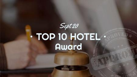 Ontwerpsjabloon van FB event cover van Hotels Guide Bell at Reception Desk