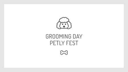 Szablon projektu Pets Fest with Dog icon FB event cover