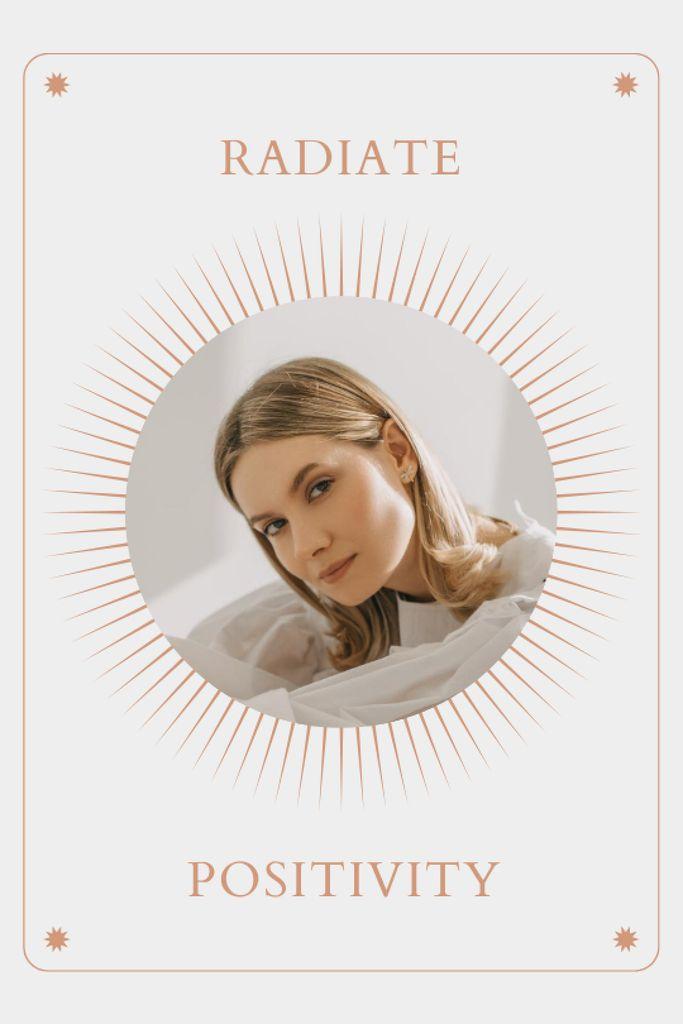 Szablon projektu Mental Health Inspiration with Woman in Sun Frame Tumblr