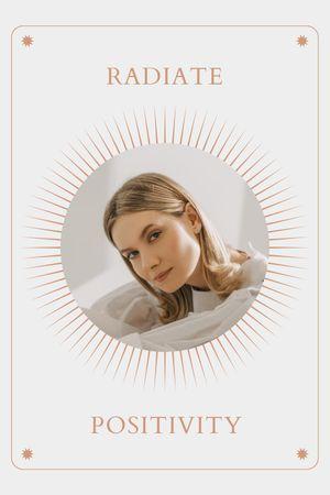 Mental Health Inspiration with Woman in Sun Frame Tumblr tervezősablon