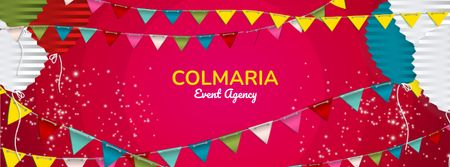 Plantilla de diseño de Event Agency Services Offer Facebook cover
