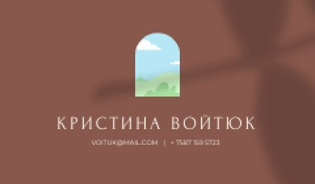 Professional contacts on Floral Shadow Business card – шаблон для дизайна
