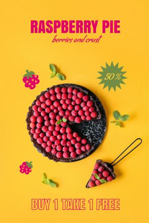 Plantilla de diseño de Delicious Raspberry Pie Sale Offer Pinterest