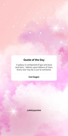 Quote of the day on pink sky Graphic – шаблон для дизайну
