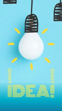 Template di design Idea Inspiration with Glowing Lightbulb Instagram Story