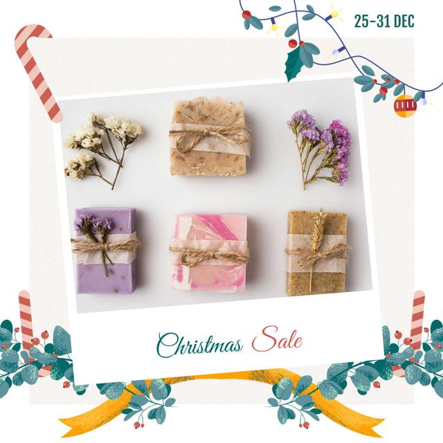 Modèle de visuel Christmas Sale Handmade Soap Bars - Instagram