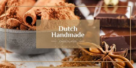 Dutch handmade chocolate Twitter Design Template