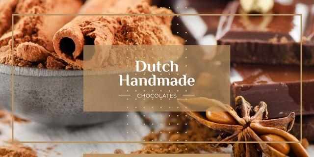 Modèle de visuel Dutch handmade chocolate - Twitter