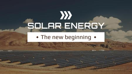 Plantilla de diseño de Green Energy Solar Panels in Desert Youtube