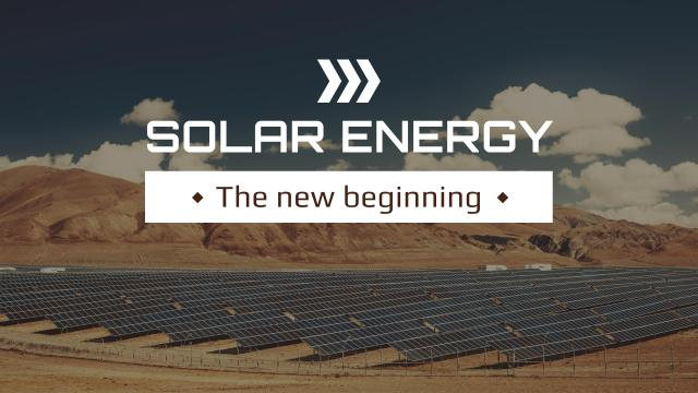Template di design Green Energy Solar Panels in Desert Youtube