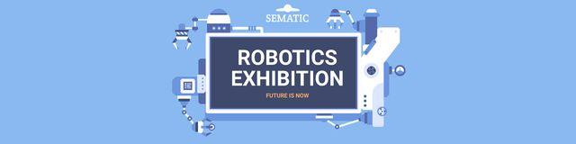 Robotics exhibition announcement Twitter Design Template