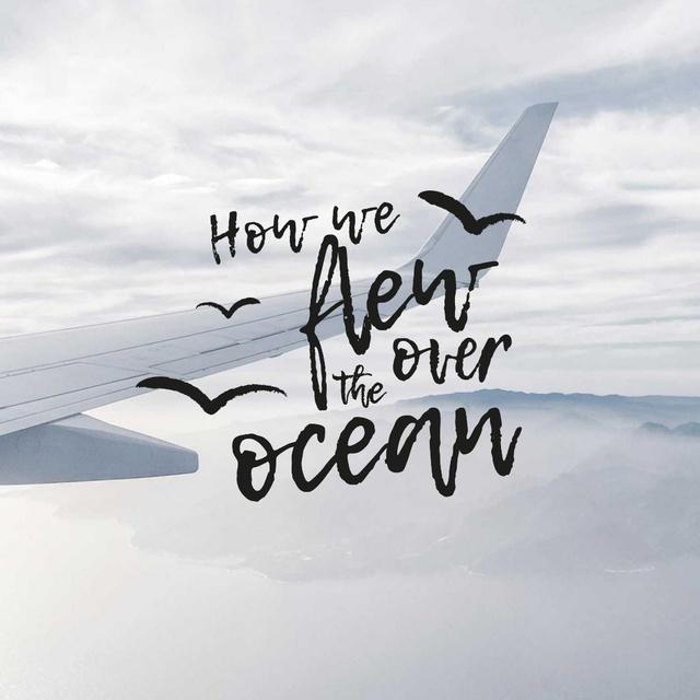 Plane flying in the sky Instagram Tasarım Şablonu