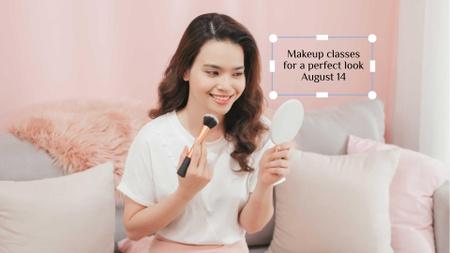 Beautiful Woman applying Makeup FB event cover – шаблон для дизайну