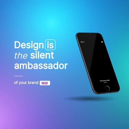New App Announcement with Modern Phone Animated Post – шаблон для дизайна