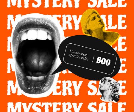 Template di design Mystery Sale on Halloween Announcement Facebook