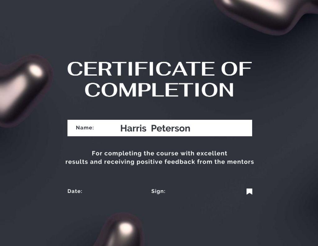 Business Course Completion Award Certificate Modelo de Design