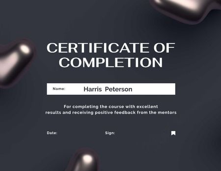 Template di design Business Course Completion Award Certificate