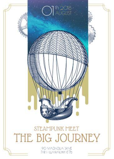 Steampunk Event With Air Balloon
