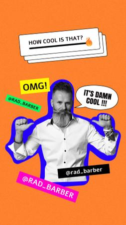 Cool and confident Barber Instagram Story Design Template