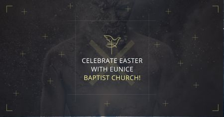 Plantilla de diseño de Easter in Baptist Church Facebook AD