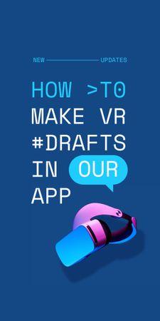 Modèle de visuel Startup Idea with modern VR equipment - Graphic