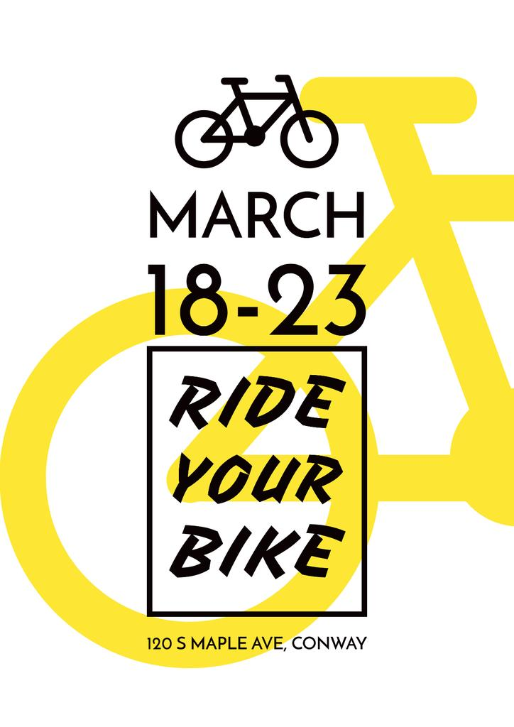 Event Announcement with yellow Bike — Modelo de projeto