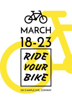 Event Announcement with yellow Bike