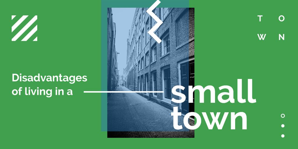 Narrow street view — Maak een ontwerp